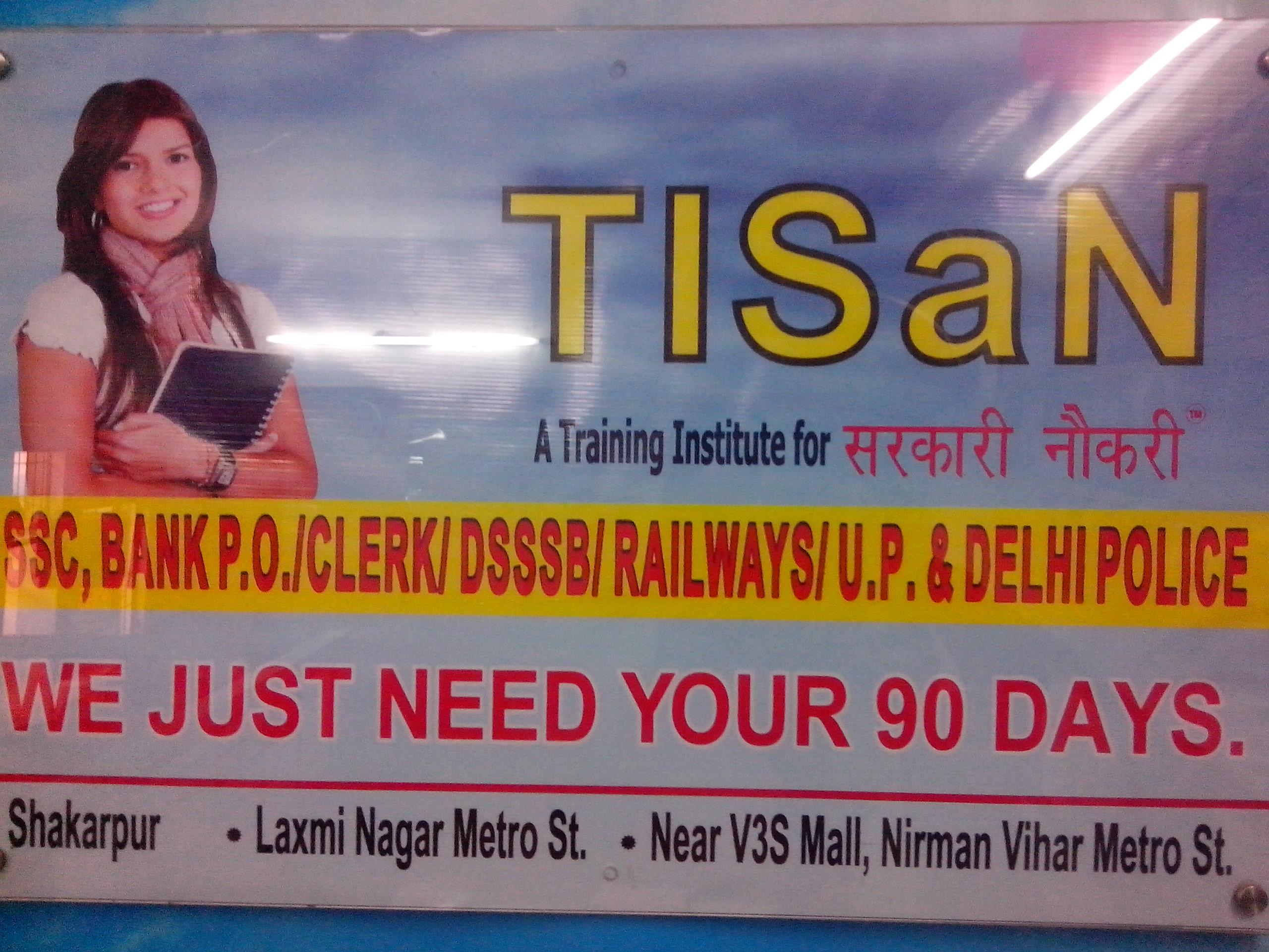 TISaN (SSC-JE/BANKING/CTET/NDA/KVS/DSSSB/DMRC) Call-08510025285)
