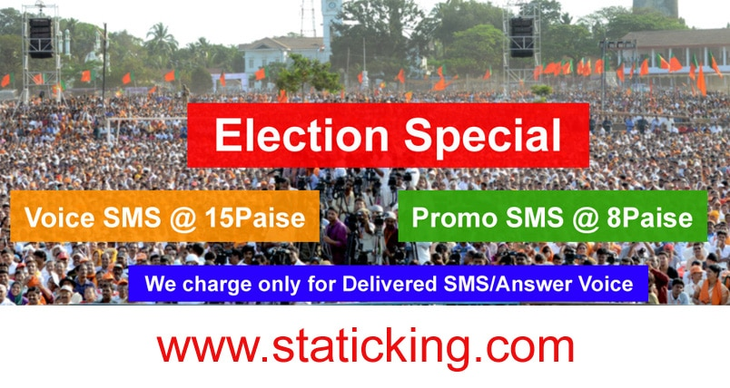 Largest SMS Provider India | +91-9540-76-3636, STATIC KING