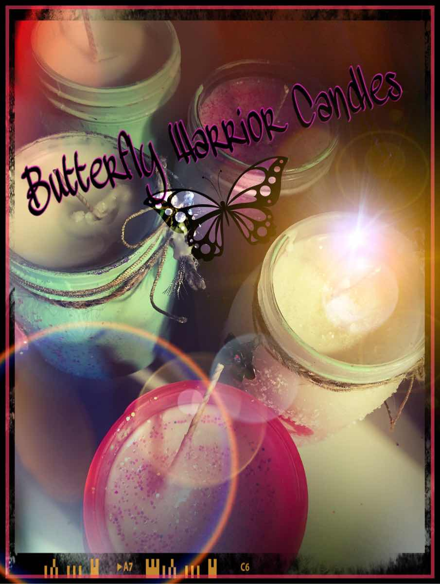 Butterfly Warrior Candles