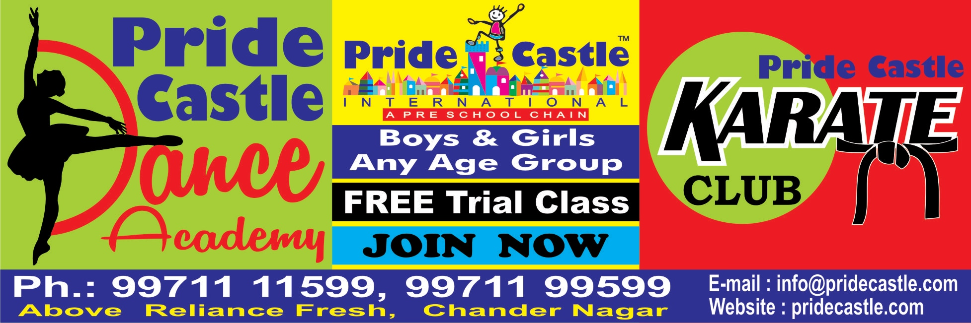 PRIDE CASTLE DANCE & KARATE ACADEMY