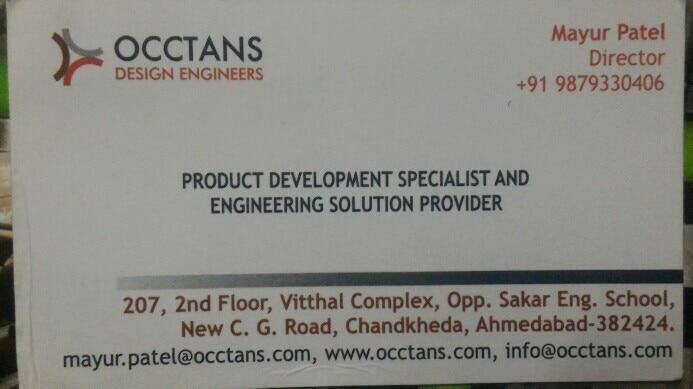 Occtans design Engineer