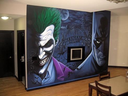Images arihant design in gurgaon for Batman cityscape wall mural