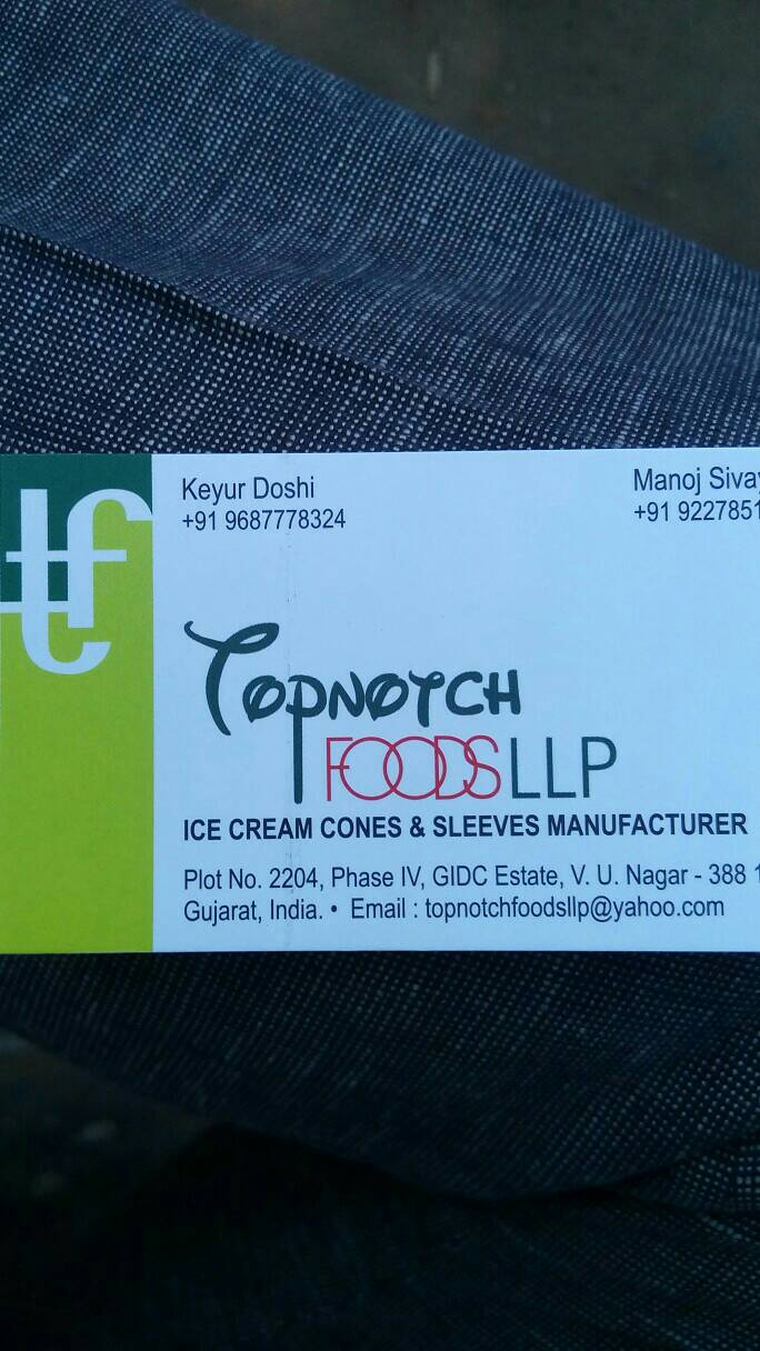 TOPNOTCH FOODS LLP