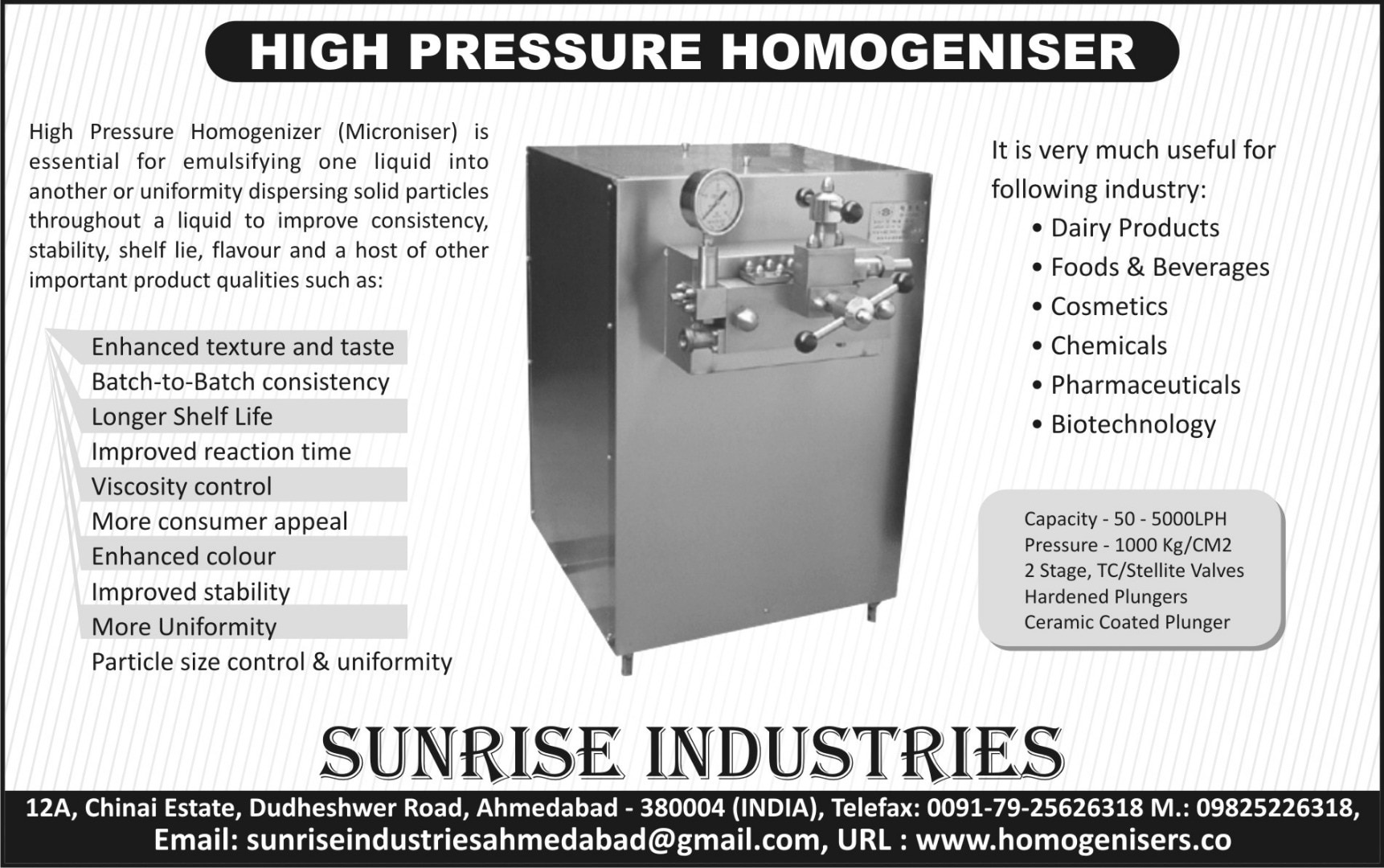 MFG, HOMOGENIZER & TEXTILE INSTRUMENTS