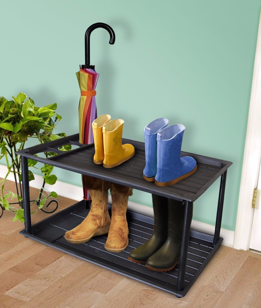 2 Tier Boot Tray and Umbrella Drip Stand