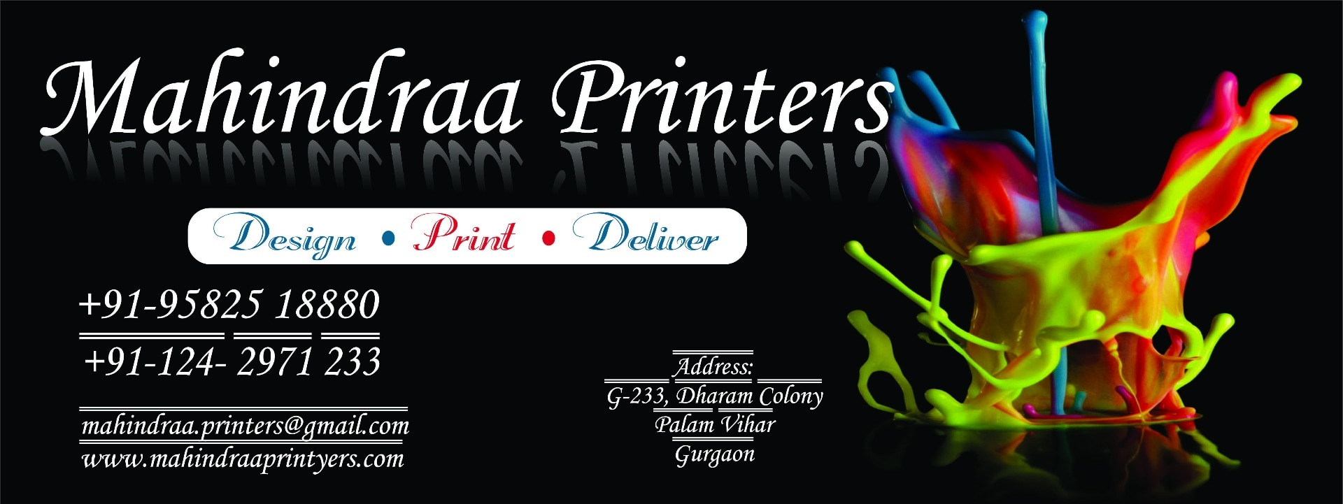 Mahindraa Printers - The Best Printing Service in Gurgaon & Delhi