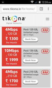 Tikona boradband internet provides