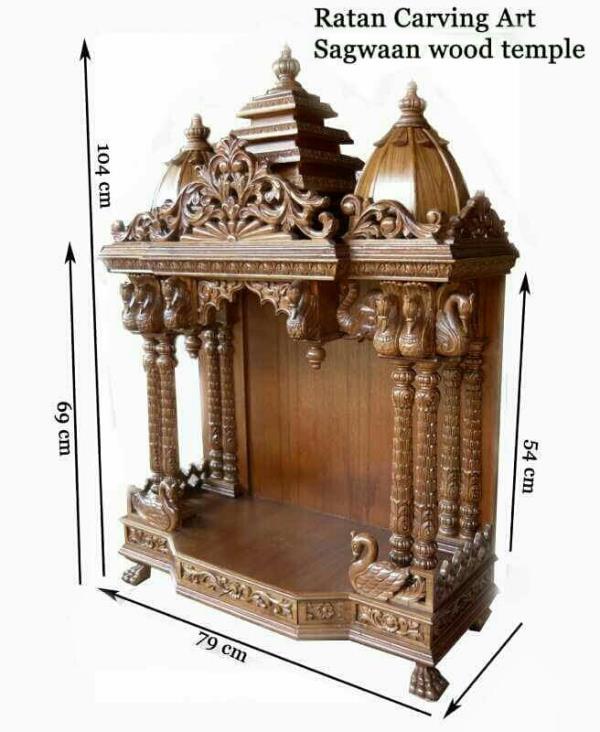 Wooden Temple/Mandir Manufacturer - Ratan Carving Art
