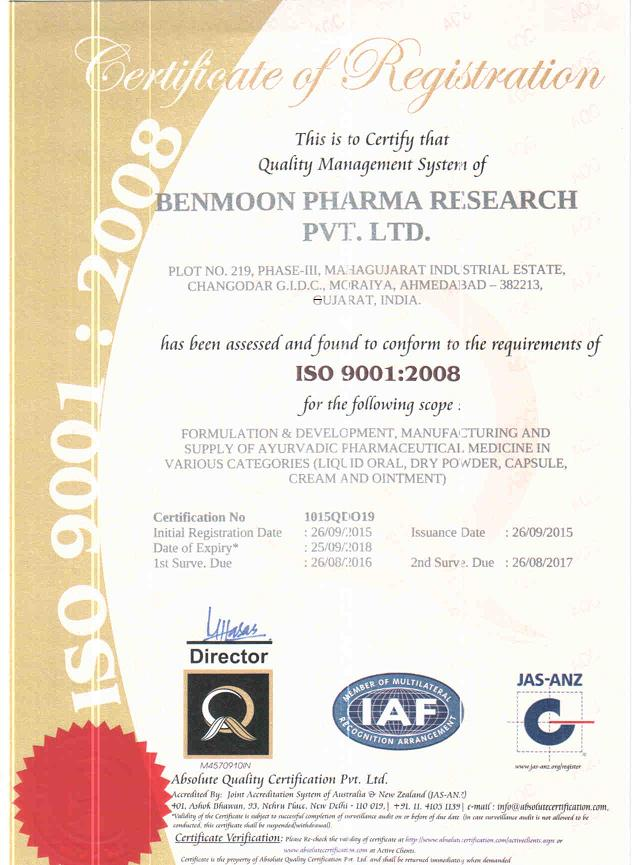 Benmoon Pharma Research Pvt Ltd