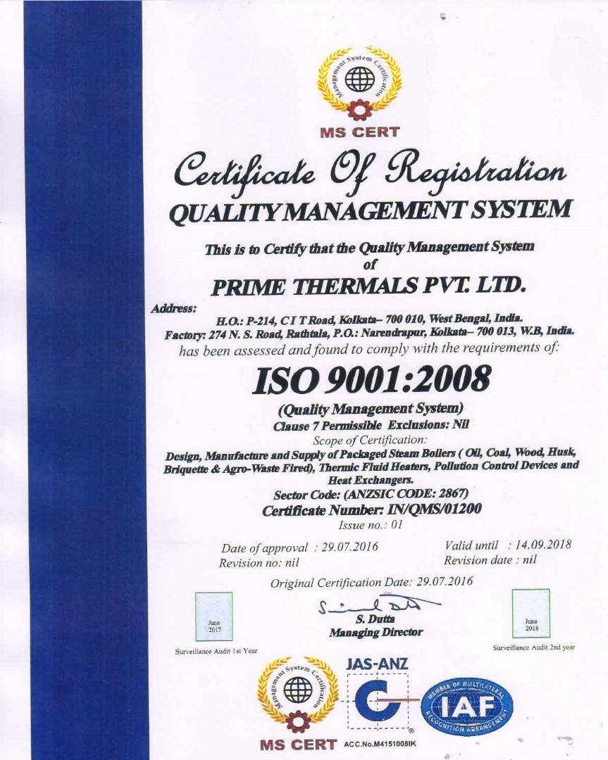 PRIME THERMALS PVT LTD