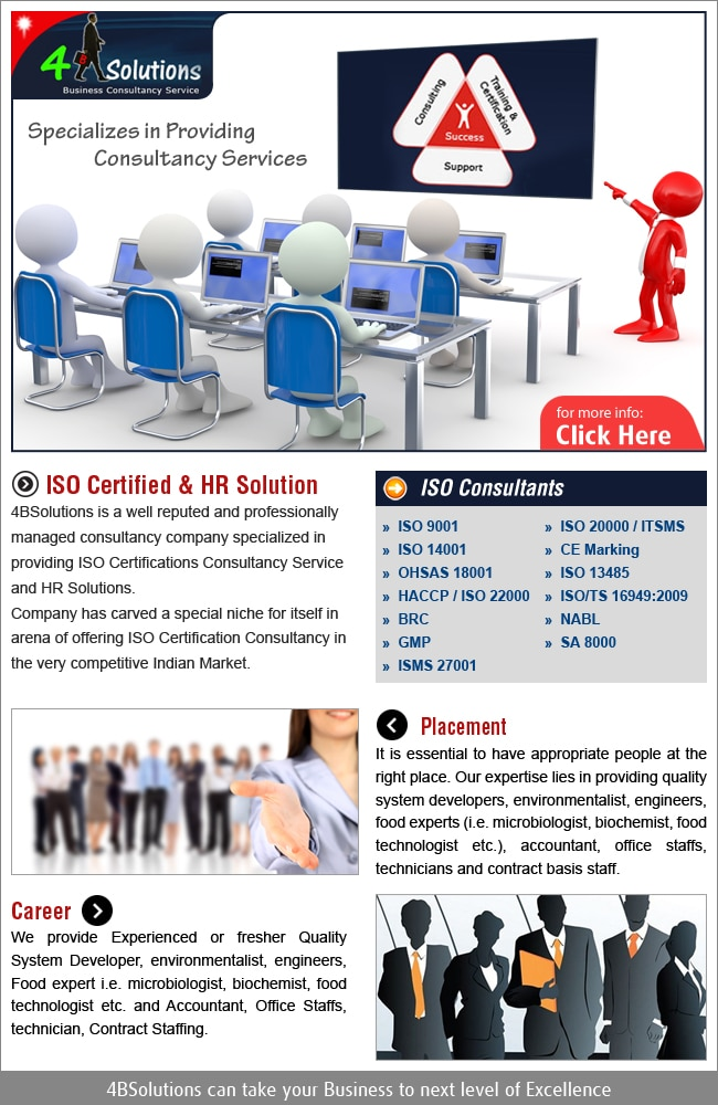 4B SOLUTIONS -A management consultant 9310826642 in New