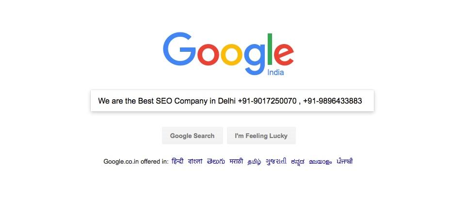 Online Google Promotion In World wide  @ +91-9017250070