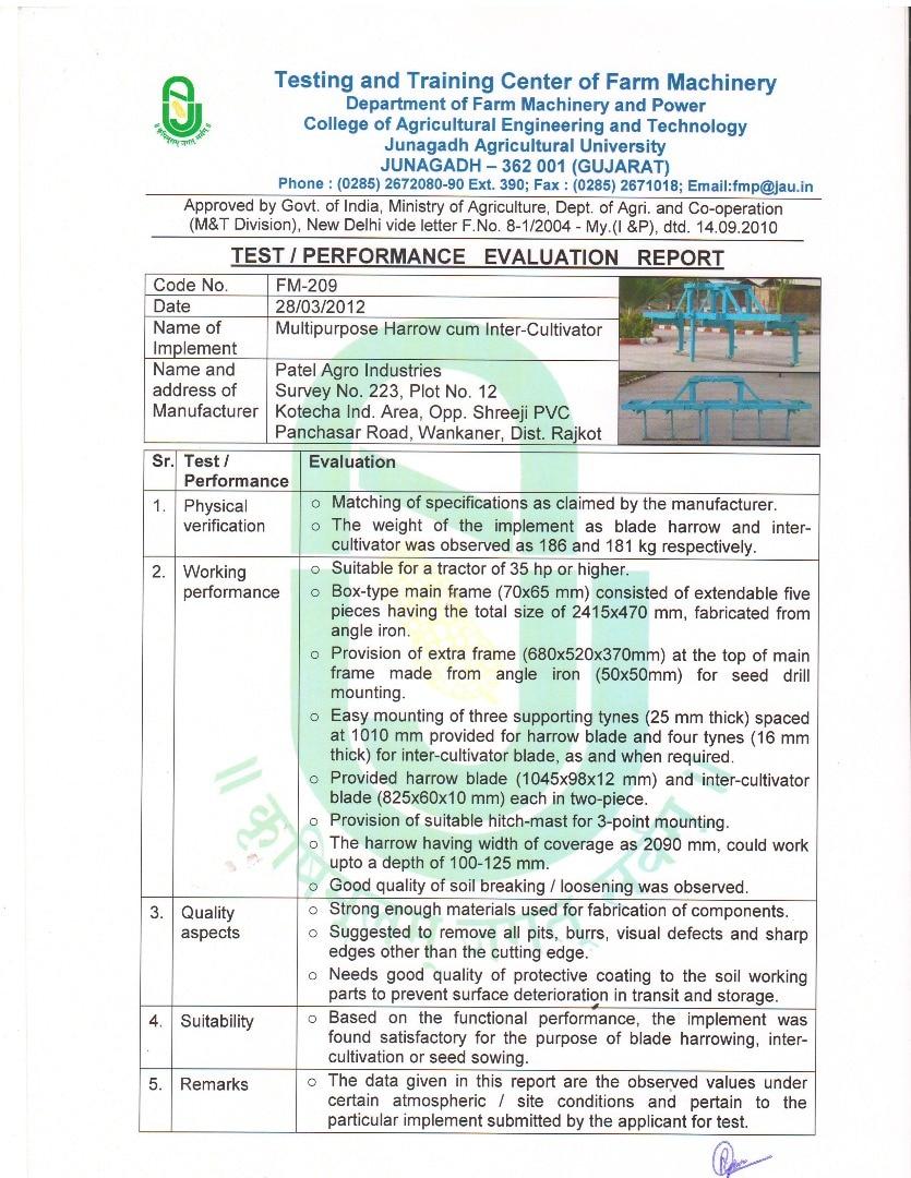 Patel Agro Industrie
