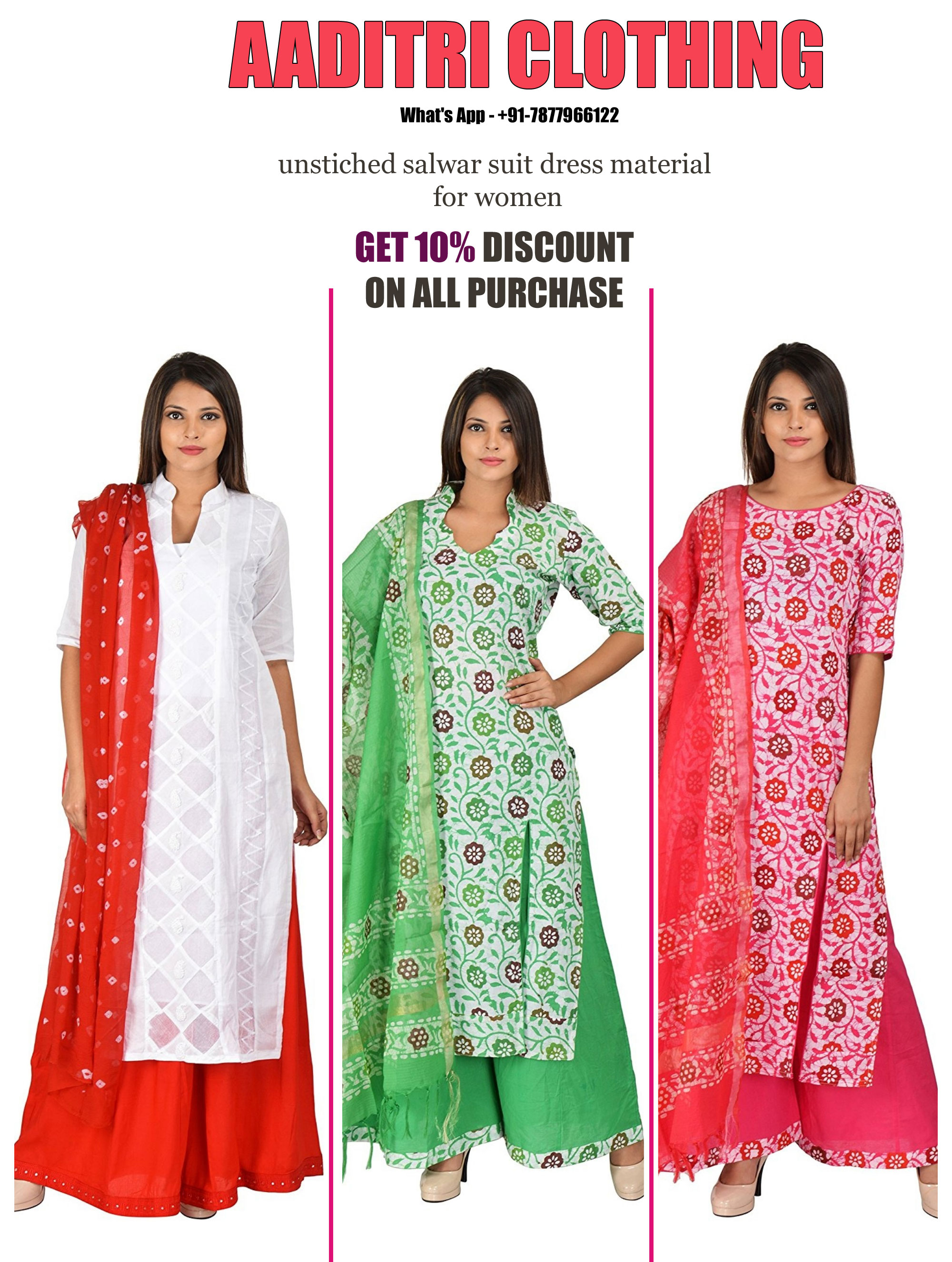 image of Aaditri Clothing - Manufacturer Of Dress Material