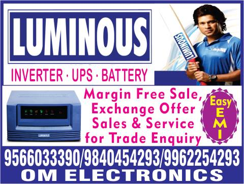 Logo of Om Electronics Call Us 9840454293