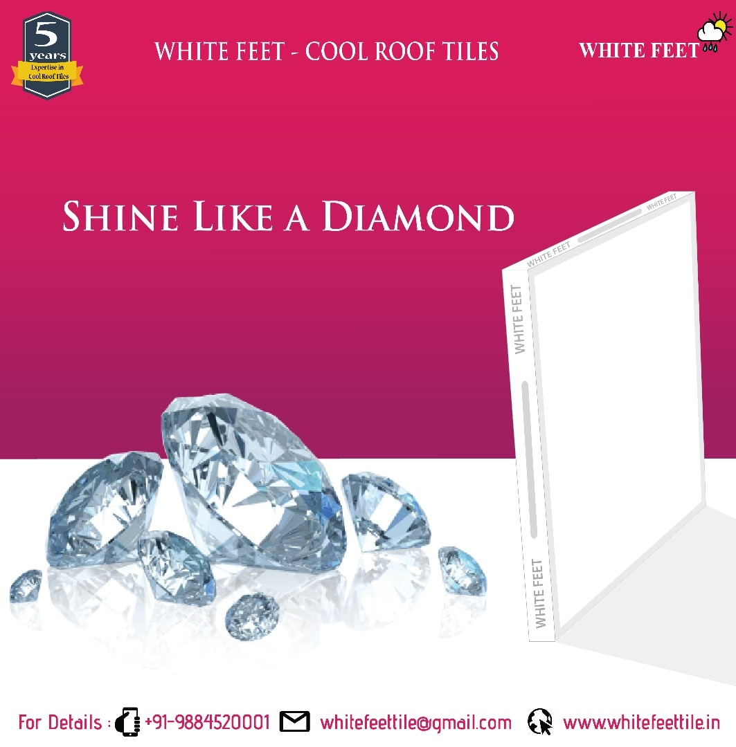 White Feet Tile Industry   CALL: 9884520001   Cool Roof Tiles Manufacturers in Chennai