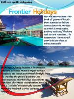 Frontier Holidays
