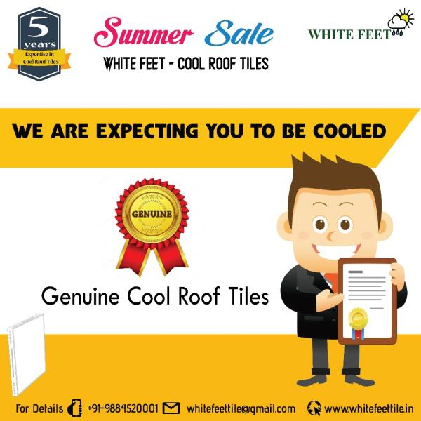White Feet Tile Industry | CALL: 9884520001 | Cool Roof Tiles Manufacturers in Chennai